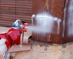 Aplicacion de gel Tratamiento de madera